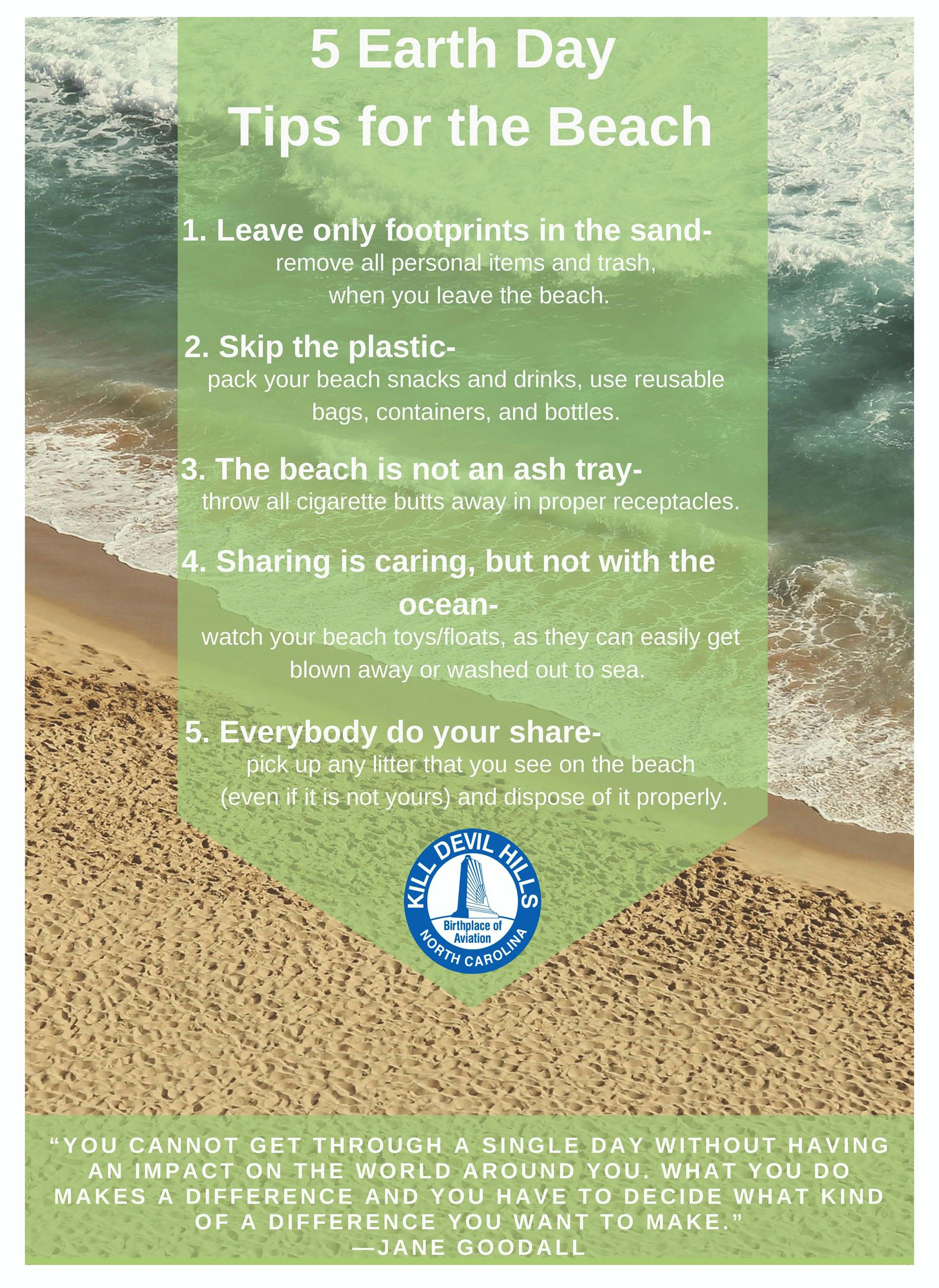 KDH Earth Day Tips for the Beach
