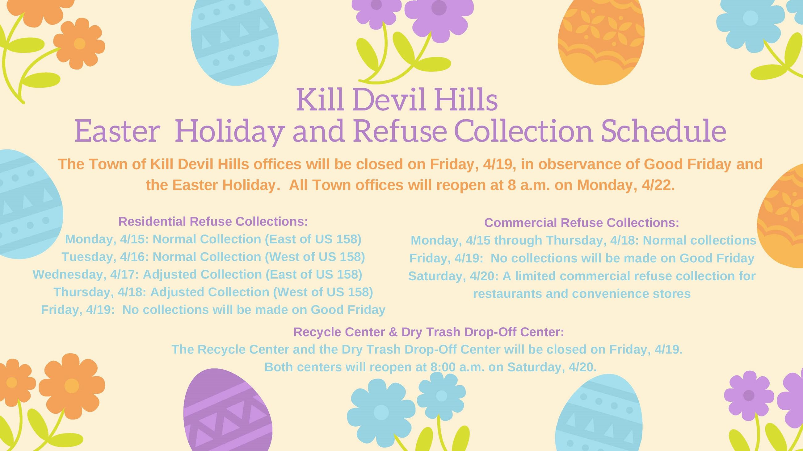 KDH Good Friday  Easter Schedule