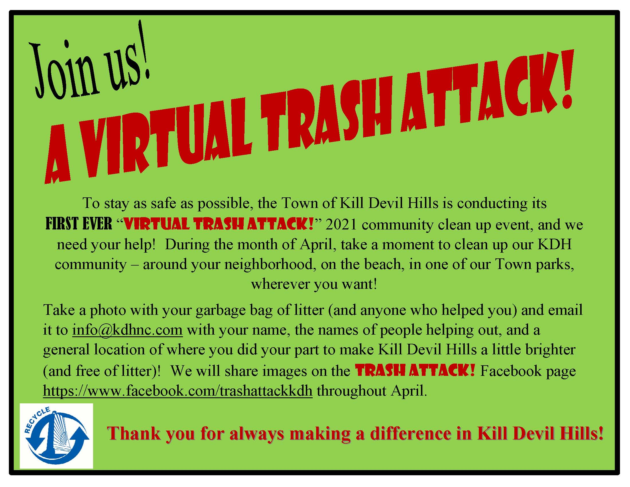 2021 Virtual Trash Attack Flyer