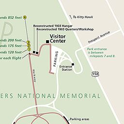 Wright Brothers Memorial map