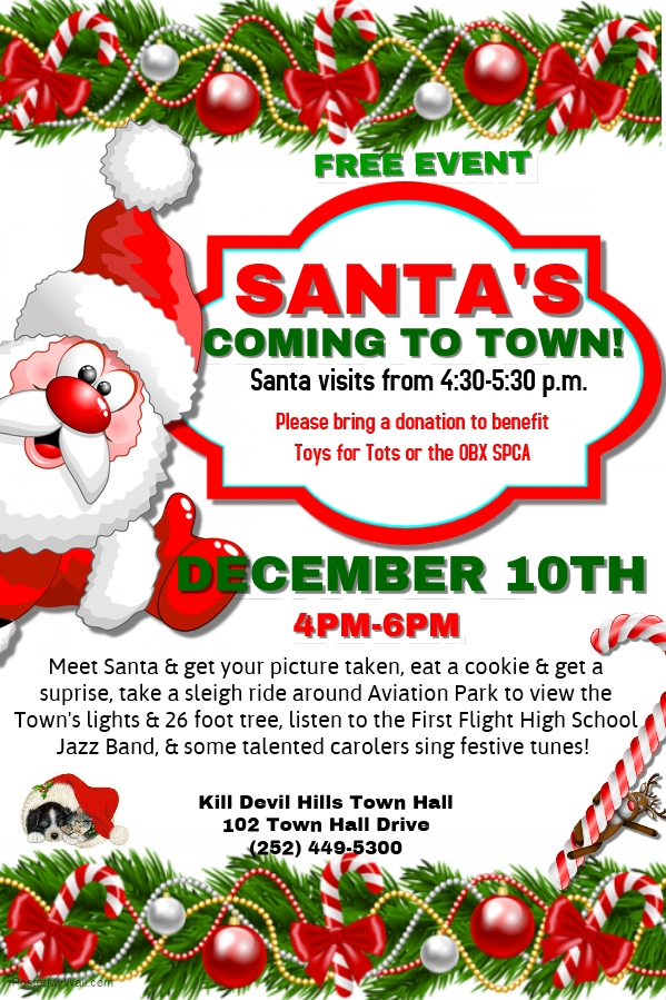 Santa at Town Hall 2016 flyer