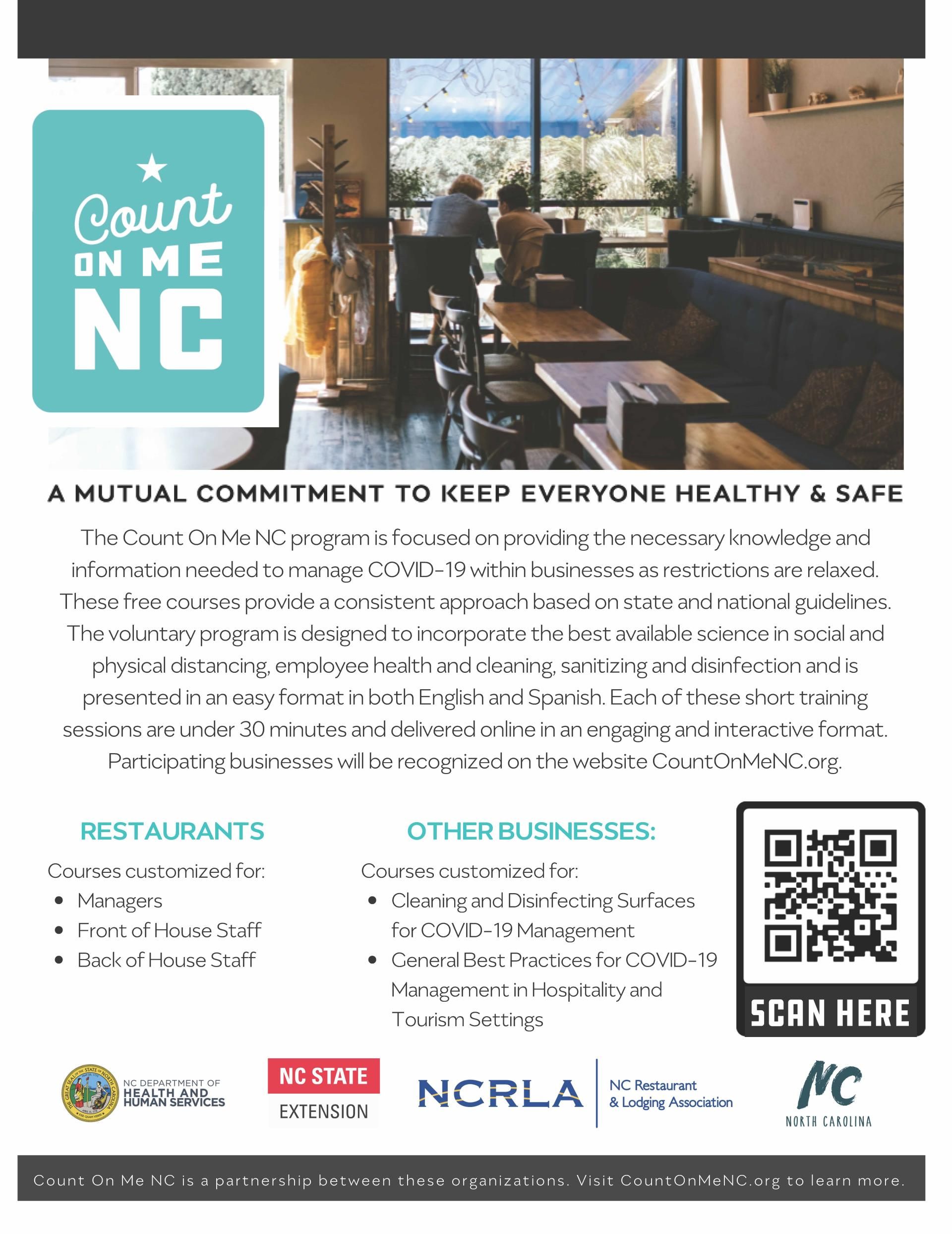 count on me nc information for businesses