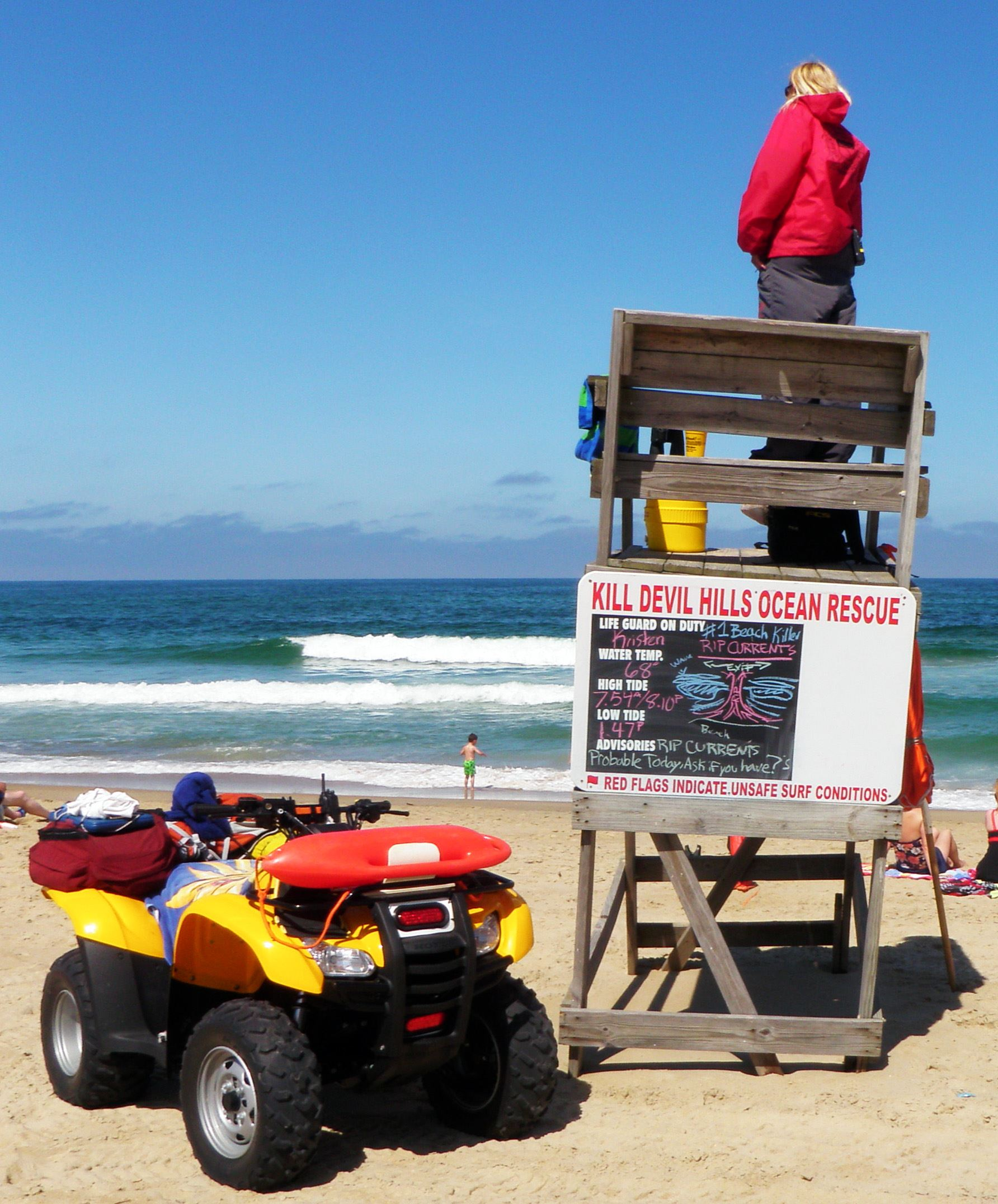 KDH Ocean Rescue Lifeguard on stand
